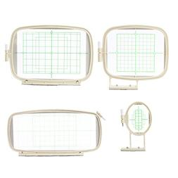 4 in 1 Embroidery Machine Hoops Set for Brother PE-700, PE-7