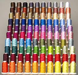 PREMIUM 100 Cones  of Polyester Embroidery Threads for for B