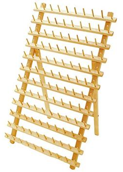 Hardwood 120 Spool Thread Rack with Wall Hanging Hardware fo