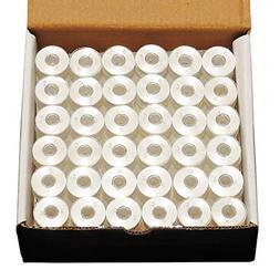 ThreadNanny 144 White Pre-wound L-Style Plastic Bobbins for