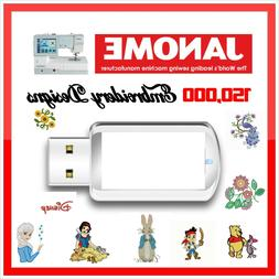 Over 150,000 Brother Embroidery Designs PES Format on USB Drive