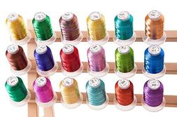 18 Metallic Embroidery Machine Thread + Thread Nets