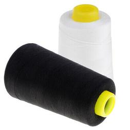 2 Spools Polyester Sewing Thread Cones For Home Use 4500 Yar