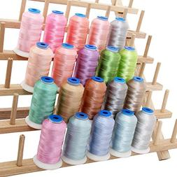 20 Cone Rayon Embroidery Thread Set - Pastel Colors - 1000m