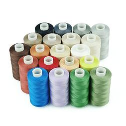 Simthread 20 Multi Colors 100% Cotton Sewing Thread 50s/3 fo