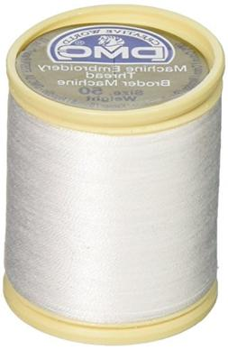 DMC 237A-50WHITE Cotton Embroidery Thread 50WT 547Yds White