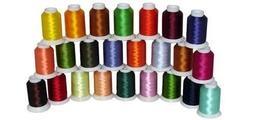 24-cone Polyester Bobbin Machine Embroidery Thread Kit - 24