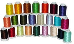 24 CONES POLY MACHINE EMBROIDERY BOBBIN THREAD 60WT THREADEL