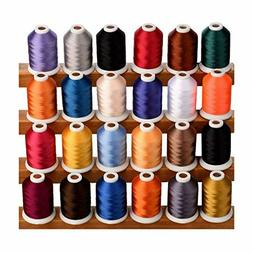 Simthread 24 Spools Trilobal Polyester Embroidery Machine Th