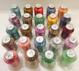 24 Spools Variegated Embroider Machine Thread - STUNNING COL