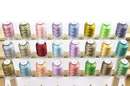 24 spools variegated embroidery machine thread