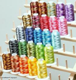 25 colors Large Cones Variegated Polyester Embroidery Machin