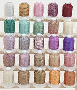 ThreadNanny LARGE 25 Cones Variegated Colors Polyester Machi