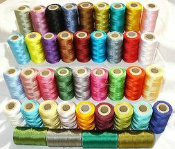 25 Embroidery Machine Thread for Brother,Janome - 25 differe