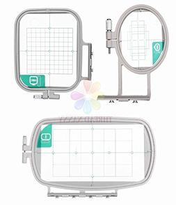 3-Hoop Machine Embroidery Set for Brother SE270D, PE-300S, H