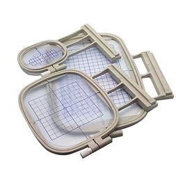 HONEYSEW 3 Hoops for Brother Embroidery Machine Duetta 4500D