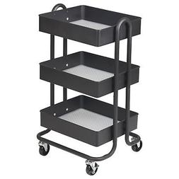3 tier metal rolling utility cart heavy