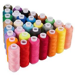 30 Machine Embroidery Thread Spools Sewing Polyester Lot Col