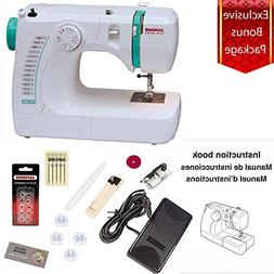 Janome 3128 Sewing Machine with Free 1/4 Inch Foot & FREE BO