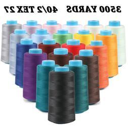 3500 Yard Spools Sewing Serger Thread Spun Cones 40/2 Tex 27