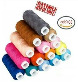 ZXUY 39 Assorted Color 200 Yards Per Unit Polyester Sewing T