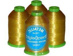 4-cone Metallic Polyester Core Embroidery Thread Kit - Antiq
