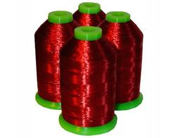 4-cone Metallic Polyester Core Embroidery Thread Kit - RED -