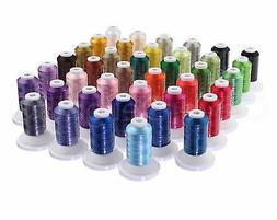 40 Color Embroidery Machine Thread Set - 550 Yd Spools - Pre