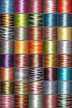 40-cone Variegated  Polyester Embroidery Thread Kit - 40 col