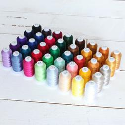 40 Spool Polyester Embroidery Machine Thread Sets - 500M Con