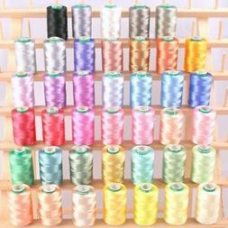 ThreadNanny 40 Spools of Art Silk Rayon Thread for Machine E