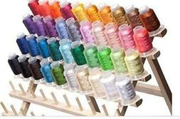 40-Spools Polyester Embroidery Machine Thread Set - Embroide