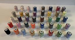 SIMTHREAD 40W Polyester Embroidery Machine Thread Lot of 40