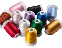 Simthread 40Wt 12 Colors Polyester Embroidery Machine Thread