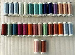 Sulky 40wt Embroidery Thread Lot of 30 Mixed Colors Sewing R