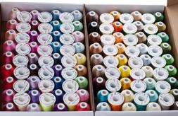 SIMTHREAD 40Wt Polyester Embroidery Home Machine Thread - 12