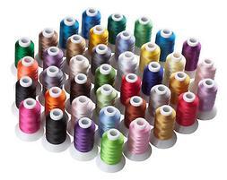 SIMTHREAD 40Wt Polyester Embroidery Machine Thread Kit, 40 C
