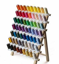 SIMTHREAD 40Wt Polyester Embroidery Machine Thread Kit, 63 C