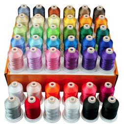 New brothread 42 Spools 1000M  Polyester Embroidery Machine