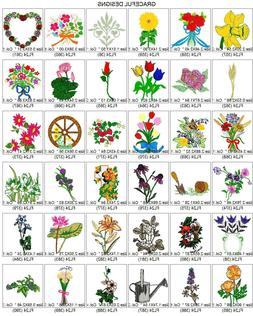 5,700 FLOWERS, TREES GARDEN BROTHER EMBROIDERY MACHINE DESIG