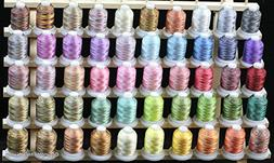 New 50 Cones Varigated Colors Polyester Machine Embroidery M