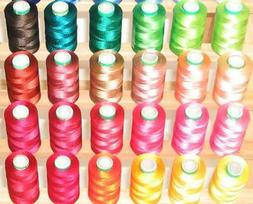 60 LARGE RAYON MACHINE EMBRIODERY THREADS + RACK + BACKING +