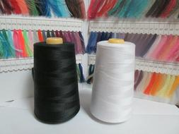 6000 Yds. Serger Sewing Machine Thread 100% Spun Polyester -