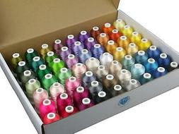 63 Brother Colors 550Y Polyester For Thread Kit Embroidery a