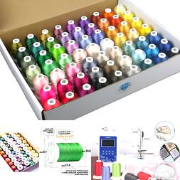 Simthread 63 Brother Colors Polyester Embroidery Machine Thr