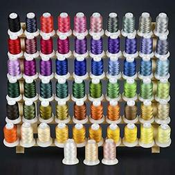 63 Colors Polyester Embroidery Machine Thread Kit 500M Every