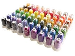 63 Spools Premium Polyester Embroidery Machine Thread - 40 W