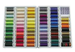 Simthread 63 Spools 330 Yards Polyester Embroidery Machine T