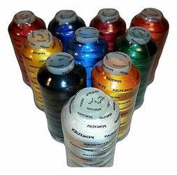 7 XL Cones of Rayon Embroidery Thread / 5500YDS / Machine Em