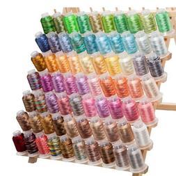 70 Spools Variegated Embroidery Machine Thread